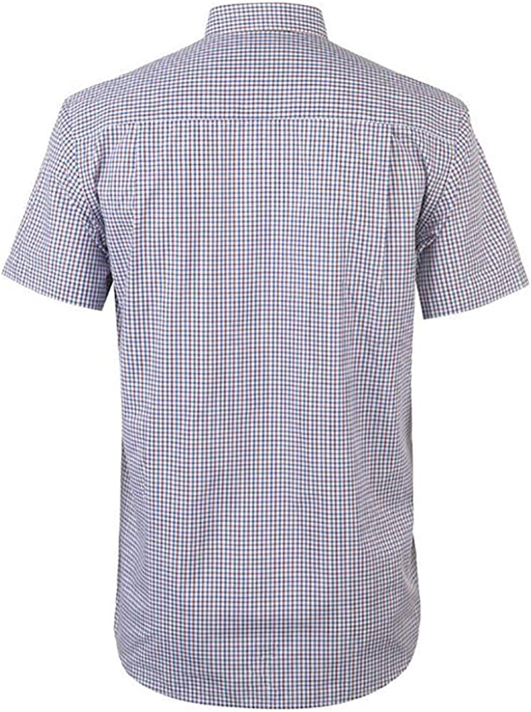 Pierre Cardin Large Gingham Short Sleeve Shirt Mens