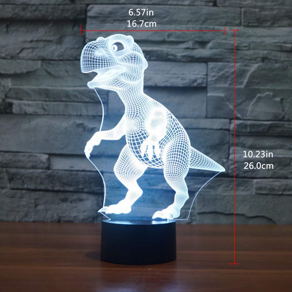 EASEHOME LED L/ámpara de Mesa Luces de Noche para Ni/ños Decoraci/ón Tabla L/ámpara de Escritorio 7 Colores Cambio de Bot/ón T/áctil y Cable USB Unicornio 3D L/ámpara /óptico Illusions Luz Nocturna