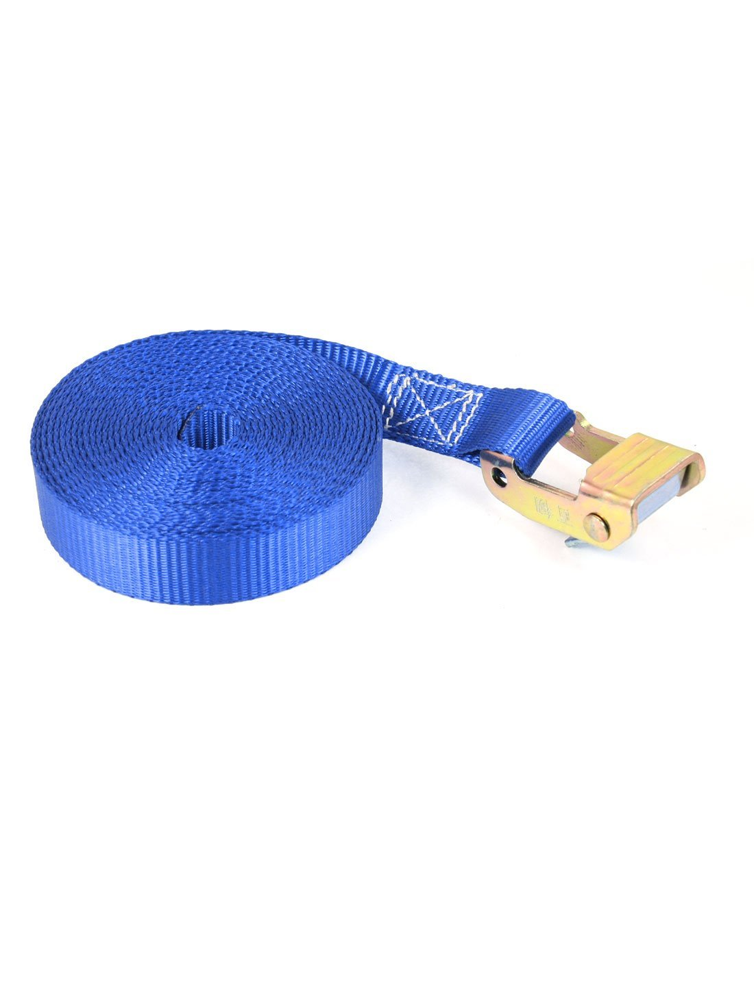 Paglalakbay Luggage Binding Metal Cam Buckle Tie Down Strap 5M 16ft Blue