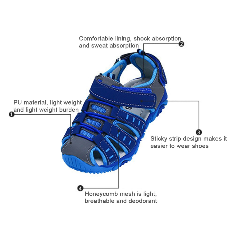 iFANS Kids Beach Sandals Soft Bottom Baby Boys Girls Sports Shoes by iFANS (Image #2)