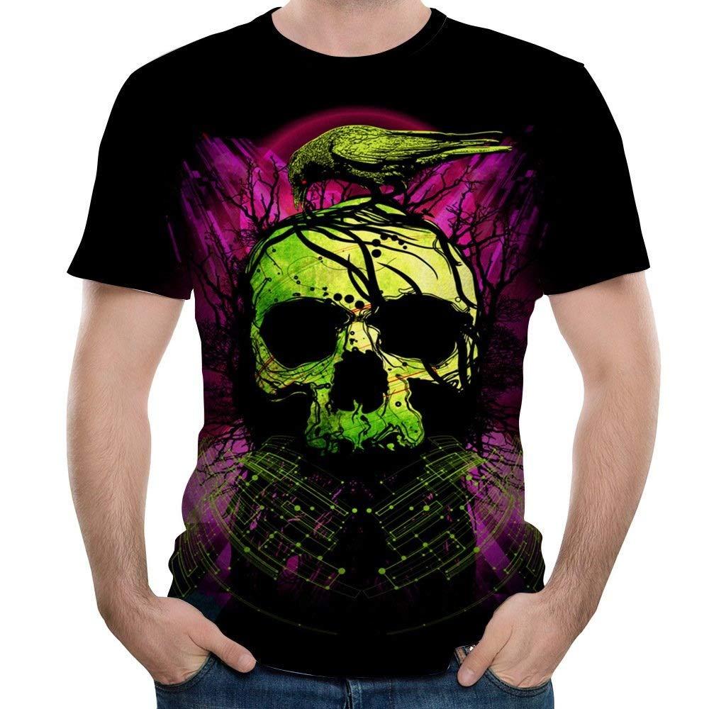NANWUGAO 3D T-Shirt Short Sleeve T-Shirt Ghost Crewneck Graphic Casual Printed Tee Tops Short Sleeve Tees