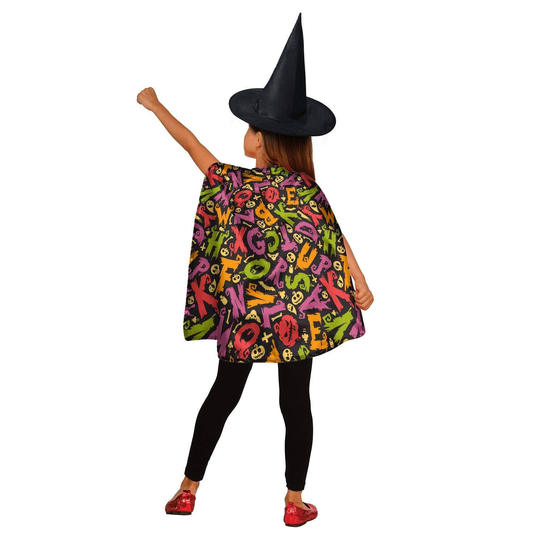 Children Cute Halloween Costume Wizard Witch Cloak Cape Robe Hat for Boy Girl