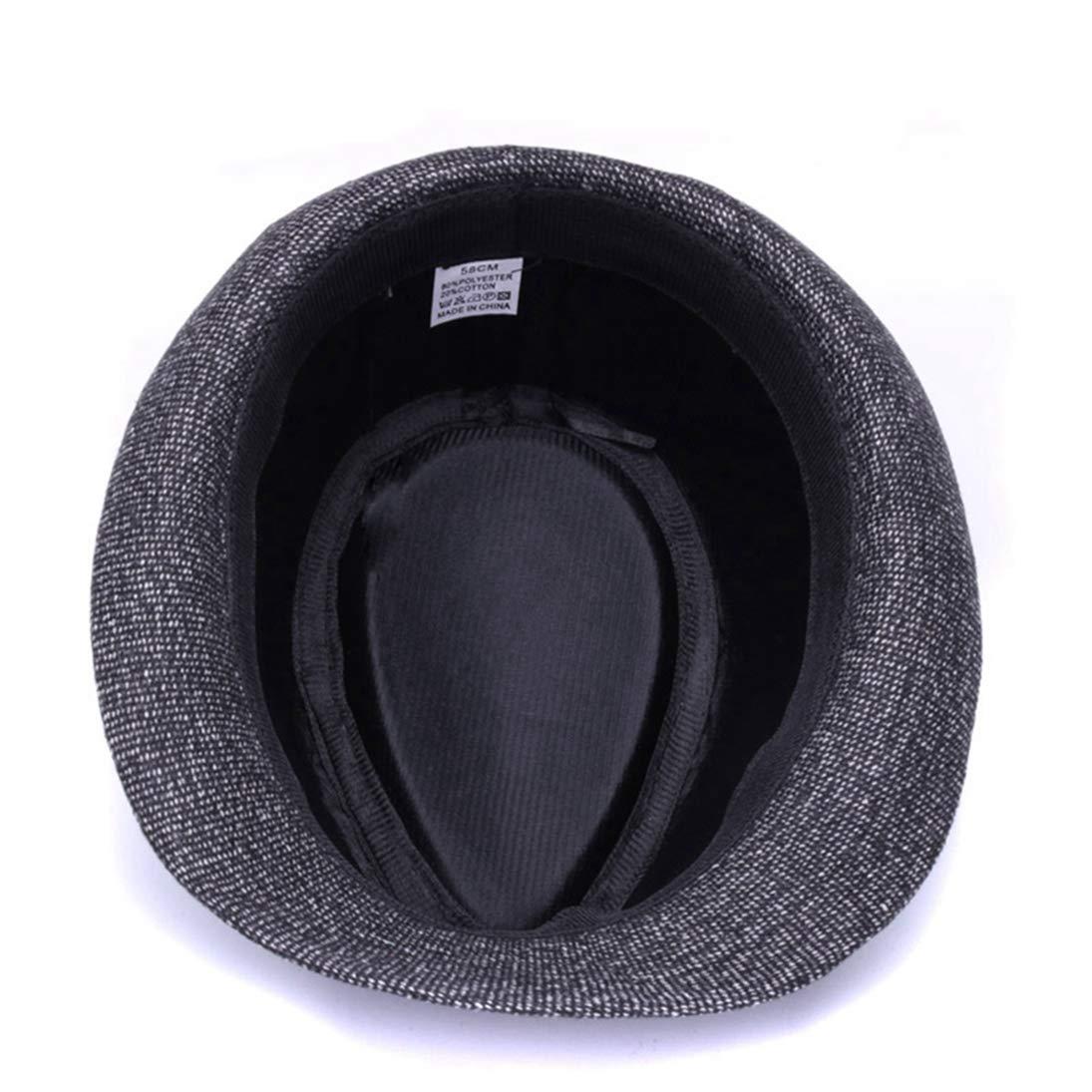 Mens Woolen Short Brim Fedora Hats Classic Vintage Panama Gangster Trilby Hat Jazz Cap