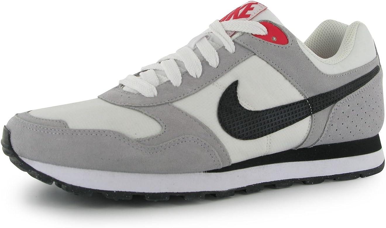 Nike MD Runner, Zapatillas para Hombre, Blanco/Negro/Gris/Rojo, 43 EU: Amazon.es: Zapatos y complementos