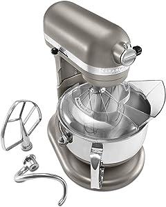 KitchenAid KP26M1XDP Professional 600 Series 6-Quart Stand Mixer, Dark Pewter (Renewed)