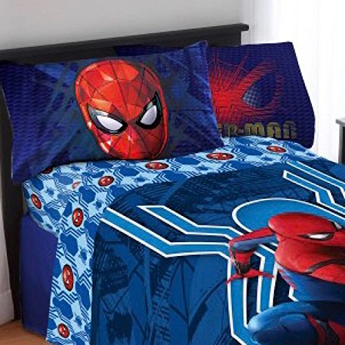 Marvel Spiderman Kids Full Bedding Sheet Set