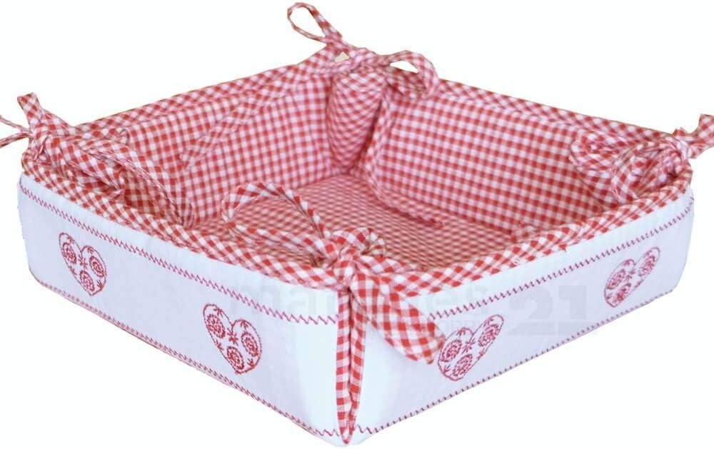 Table Coureur Moyen Couverture Linge de maison de campagne Rouge Blanc à Carreaux /& Coeur 35x70 cm