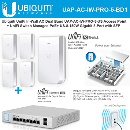 Ubiquiti UAP-IW-5-US UniFi Access Point InWall 5 pack US