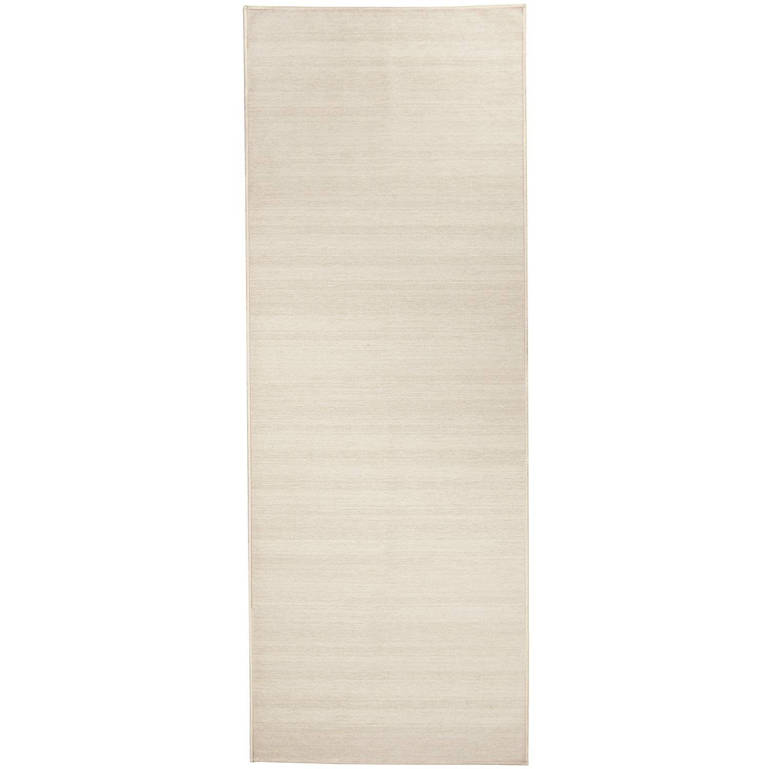 RUGGABLE Washable Stain Resistant Pet Dog Runner Rug for Indoor/Outdoor - Solid Textured Cream 2.5' x 7' Runner Rug Set