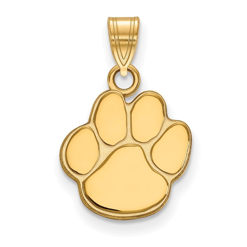 15mm x 22mm Solid 925 Sterling Silver with Gold-Toned Auburn University Small Pendant