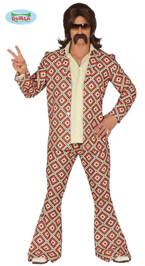 ineguagliabile nelle prestazioni genuino sconto in vendita Costume disco anni 70 hippie uomo adulto taglia M 48 50
