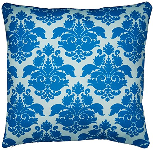 Fiuoleiw Canvas Flower Throw/Damask Decorative Pillow Case,