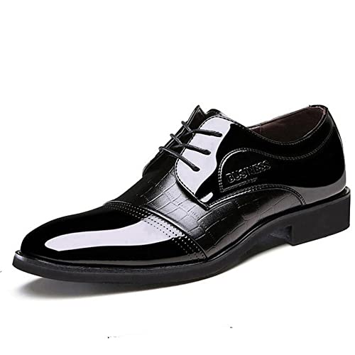 Shoes Men's Shoes Spring Fall Formal Shoes For Office & Career Party & Evening Blue Brown Black (Color : Brown Size : 38)