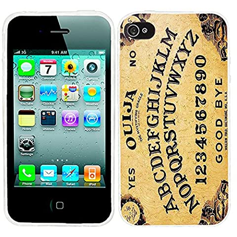 iPhone 4s Case, iphone4s case,iphone 4 case,iphone4 case, ChiChiC full Protective unique Stylish Case slim flexible durable Soft TPU Cases Cover for iPhone 4 4g 4s,yellow Ouija board (Iphone 4 Case Artsy)