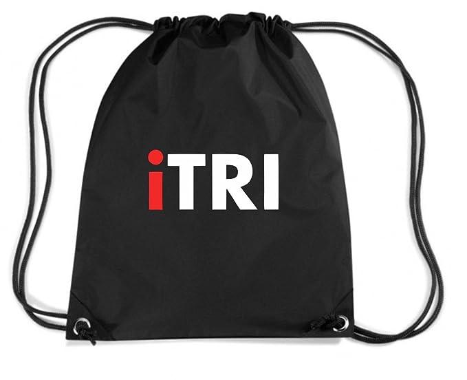 T-Shirtshock - Mochila Budget Gymsac OLDENG00551 itri triathlon, Talla Capacidad 11 litros: Amazon.es: Ropa y accesorios