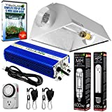 Yield Lab Horticulture 600w HPS MH Grow Light Cool Hood Reflector Kit Easy Setup Full Spectrum System For Indoor Plants And Hydroponics – Free Timer and 12 Week Grow Guide DVD