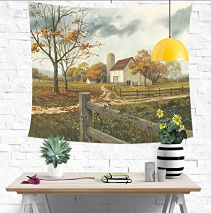 Amazon.com: Huanxidp Tapestries Shabby Country Impreso Pared ...