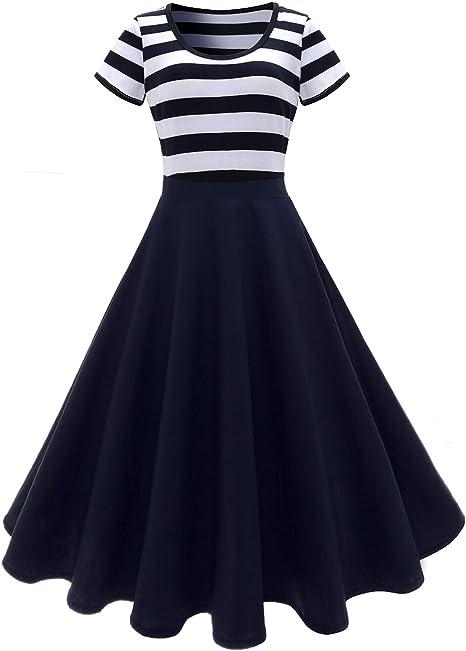 Vintage Damen Rockabilly 50er Jahre Swing Pin Up Ausgestellt Ärmelloses