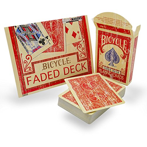 - Magic Makers Faded Rider Back Red Bicycle Deck