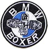 BMW BOXER MOTORRAD Motorcycle Logo Sign Biker Racer Patch Iron on Applique Embroidered T shirt Jacket Custom Gift BY SURAPAN