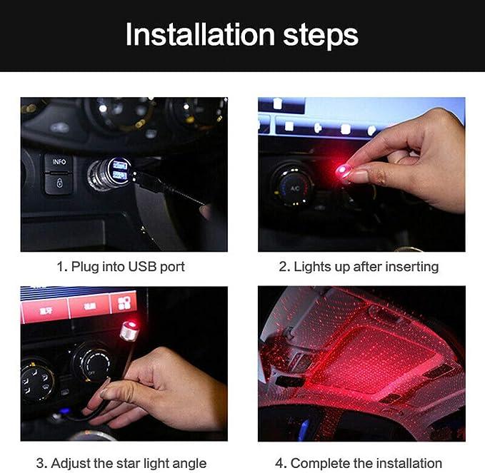 ZT-05 ZTMYZFSL LED Auto Decken Projektor Lampe Stern Nachtlichter Innenraum Ambiente Galaxy Lampe Deko Licht USB Stecker