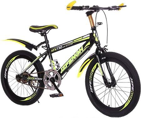Tbagem-Yjr Bicicleta For Niños, Freestyle Bicicleta De Montaña Niños Velocidad Única Deportes Ocio (Color : Black Yellow, Size : 22 Inch): Amazon.es: Hogar