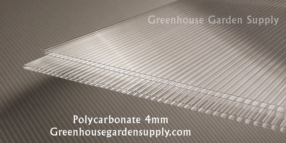 Polycarbonate Greenhouse Cover 4mm - Clear 24'' x 48'' (Pak of 10)