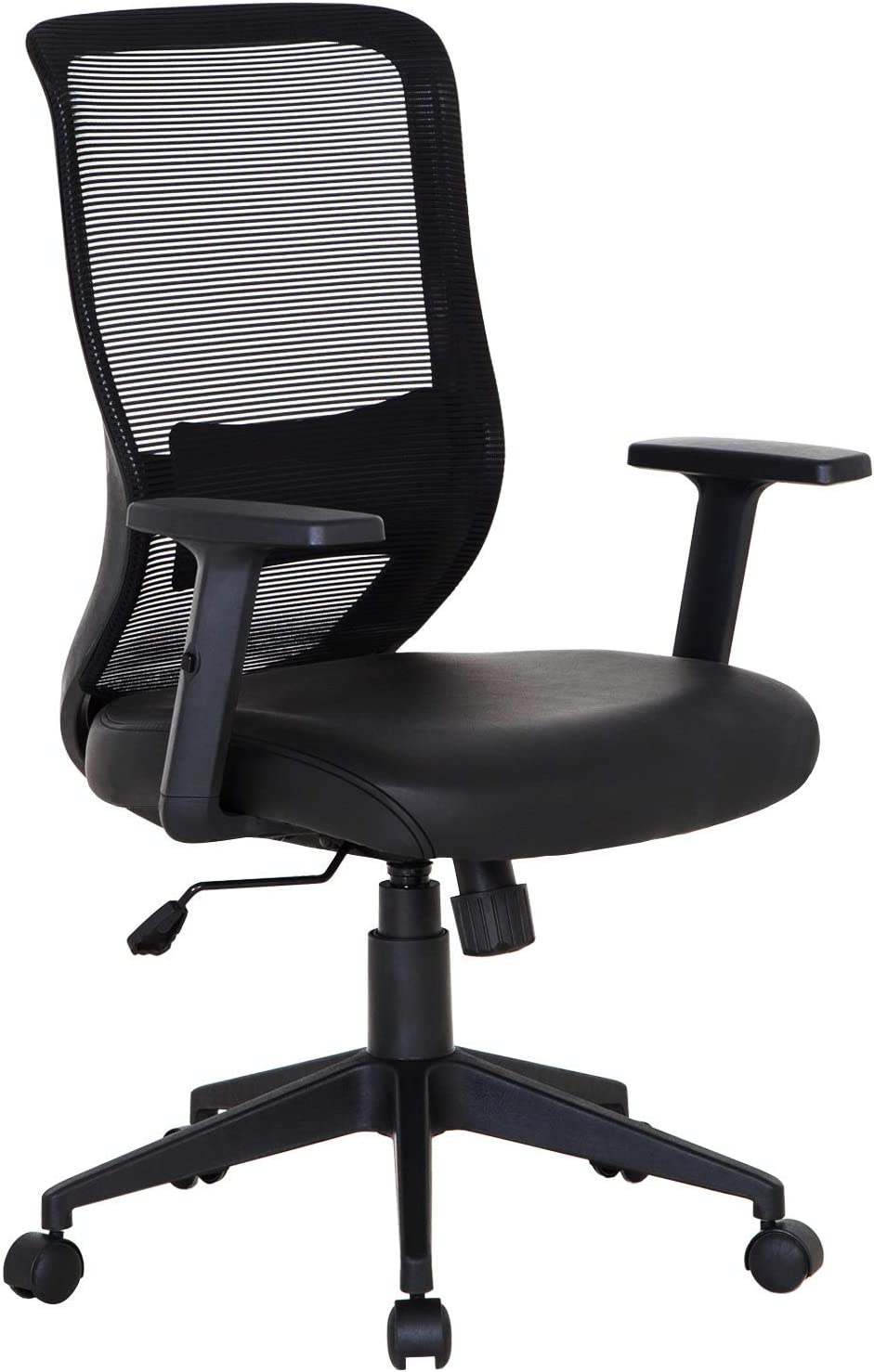 VECELO Office Computer Desk Chair with PU Padded Seat Cushion