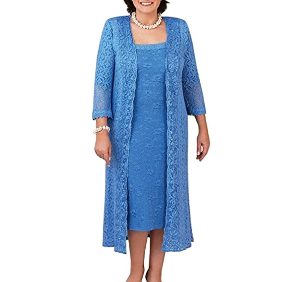 Shinegown Women S Long All Over Lace Dress With Jacket Evening Party