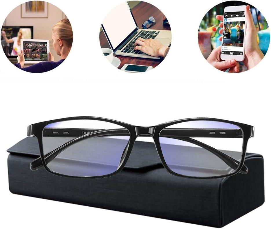 Gafas con filtro de luz azul, gafas de pantalla, luces azules, gafas de ordenador, reducción de la carga ocular, antiluz azul, gafas de TV para hombres, antiUV, gafas con filtro de luz azul