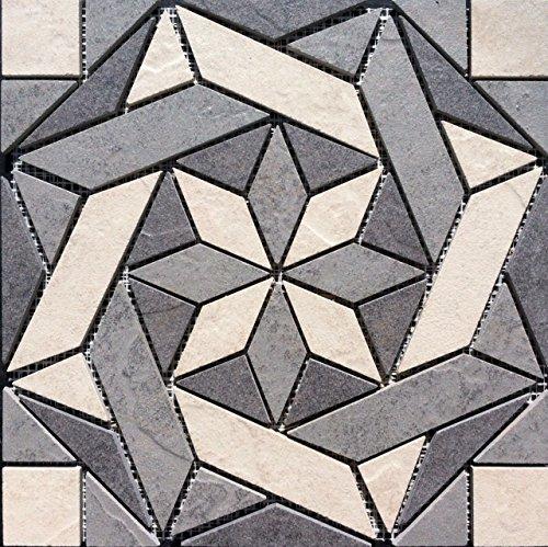 Flooring Daltile Cliff Pointe Porcelain Tile Medallion Mosaic - Daltile prices online