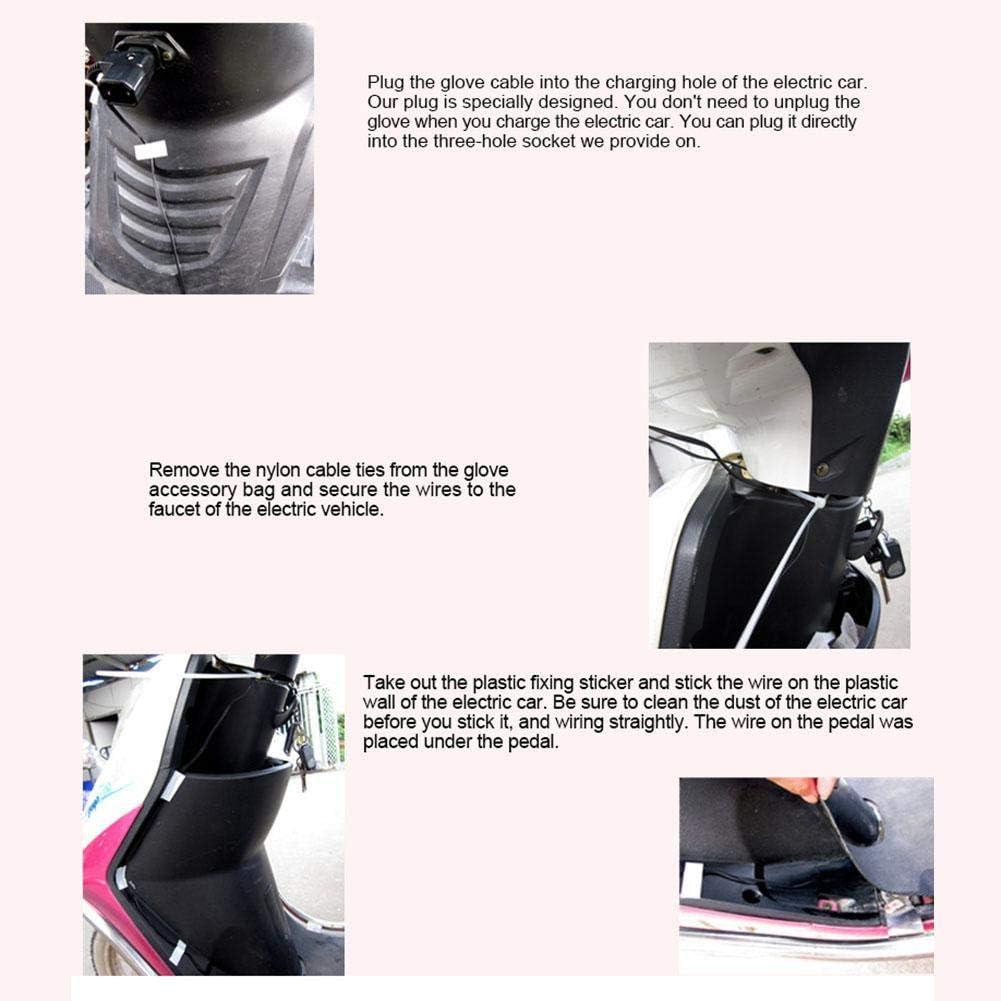 Gants de Moto dext/érieur /à 45/° temp/érature constante Gants Chauffants /électriques avec Cordon de Serrage Bestlle Moufles de Guidon de Moto 12 V