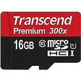 Transcend microSDHCカード 16GB UHS-I対応 変換アダプタ無し 永久保証 TS16GUSDCU1