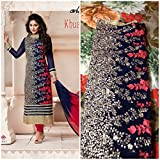 New Indian Designer Blue Georgette latest Party Wear Salwar Suit Dress Material