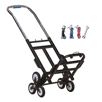 Fkdebag Carrito de Compras Carro para escaleras de Escalada Carrito de Compras Trolley Carga 100 kg Durable Plegable Compras Recorrido Hogar 23cm Rueda de ...