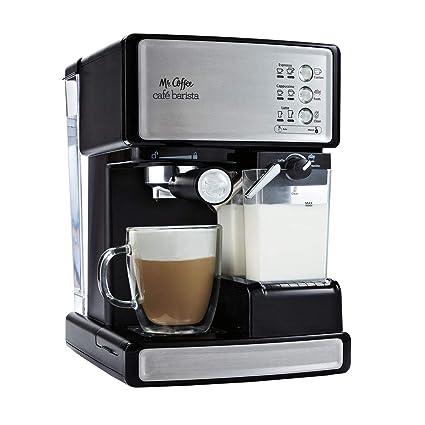 Amazon.com : Mr. Coffee Cafe Barista Black & Silver Espresso ...