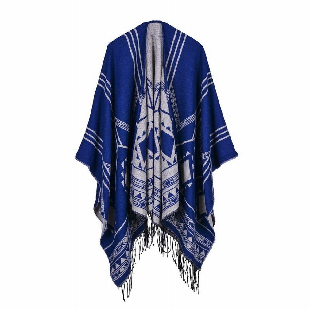 GCCI Damens 'S Schal Geometrie Abgeschrägte Längere Quasten Schal Imitation Kaschmir Umhang