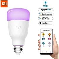 OLLIVAN Smart Bulb, Original Xiaomi Yeelight Bulb E27 LED Light Bulb Dimmable 10W 800lm 1700K-6500K RGB LED Bulb APP Control WiFi Bulb Multicolor Works with Google Assistant and Amazon Alexa [Color Version]