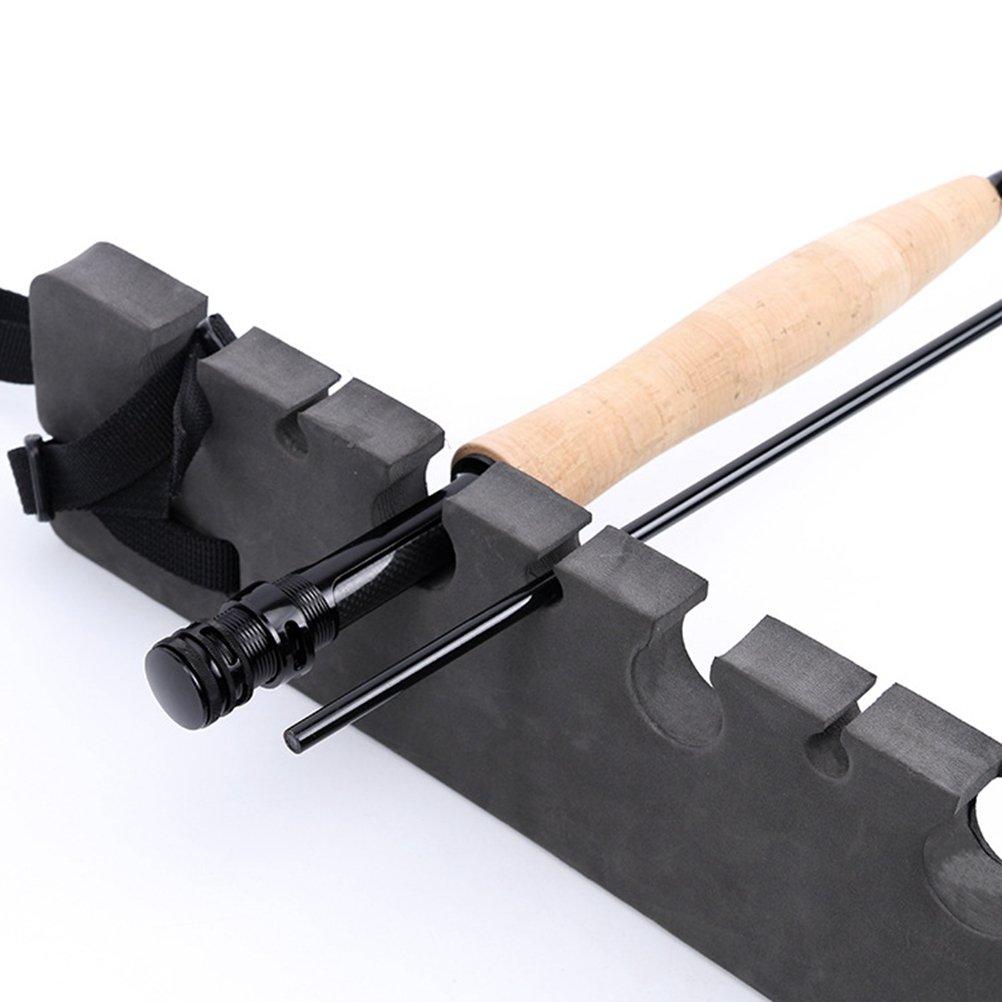 VORCOOL Fishing Rod Holder Flyfishing Rod Rack Headrest Mount Portable Magnetic Rod Storage Rack Bracket Vehicle Car Rod Carrier 2PCS
