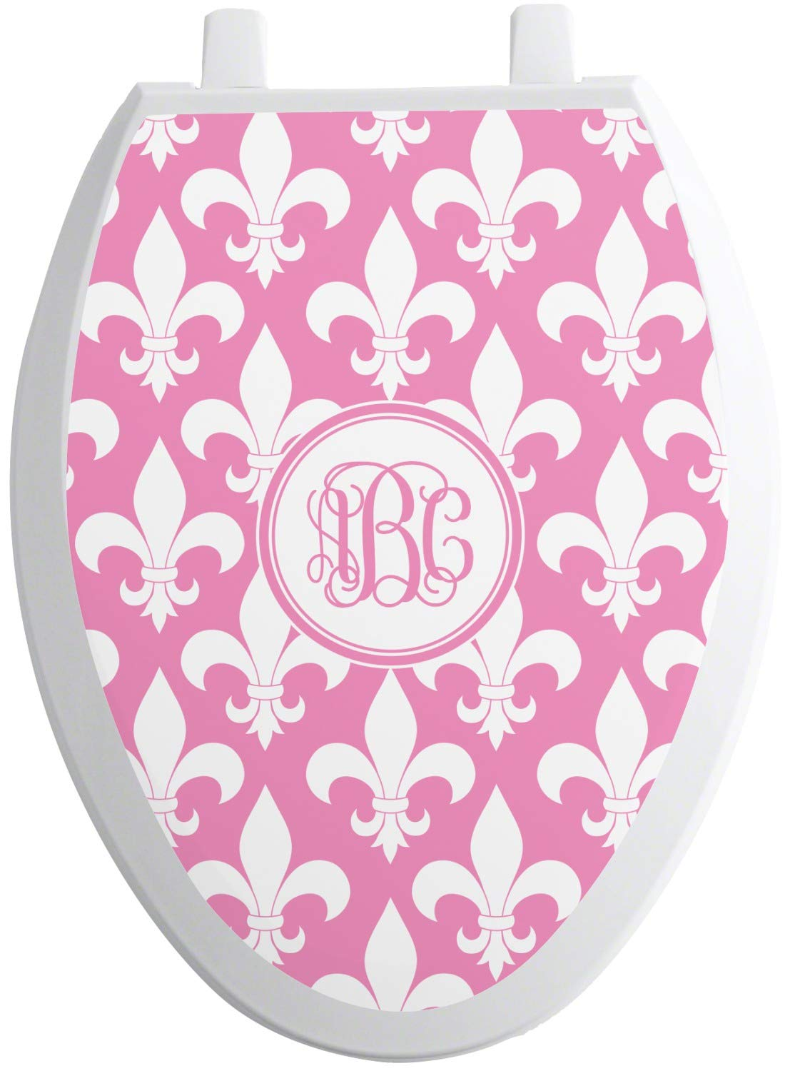 RNK Shops Fleur De Lis Toilet Seat Decal - Elongated (Personalized) by RNK Shops