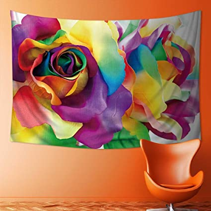 Amazon Com Also Easy Art Decorative Handcraft Colorful Rainbow Rose