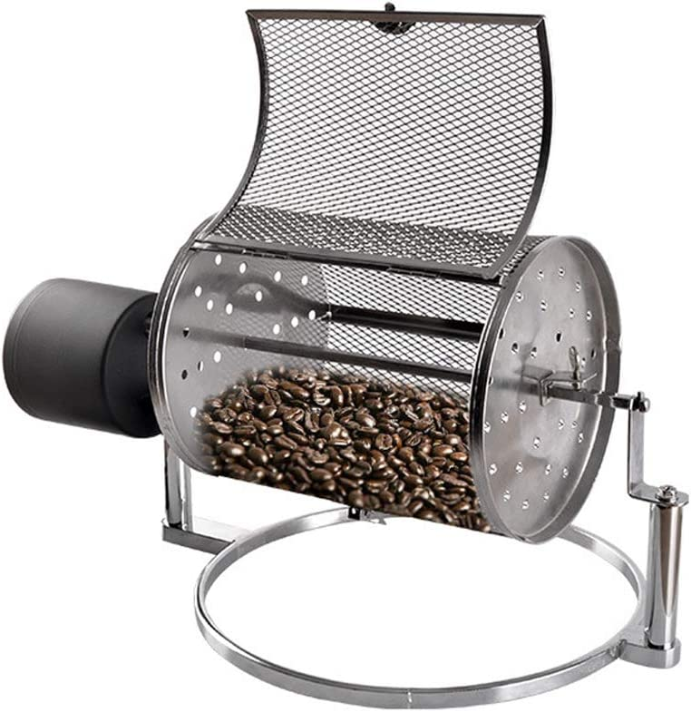 AnEssOil 110V Coffee Roaster Electric Roaster Household with Automatic Cooling Function Open fire Fried Beans Adjustable Speed Peanut