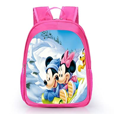 aab97b28c3 YOURNELO Cartoon Mickey Mouse Minnie Satchel Children s School Backpack For  Girls ...