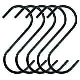 Zelta Anti-rust S Hanging Hooks Stainless Steel Black Set of 10