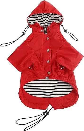 Morezi Dog Zip Up Dog Raincoat