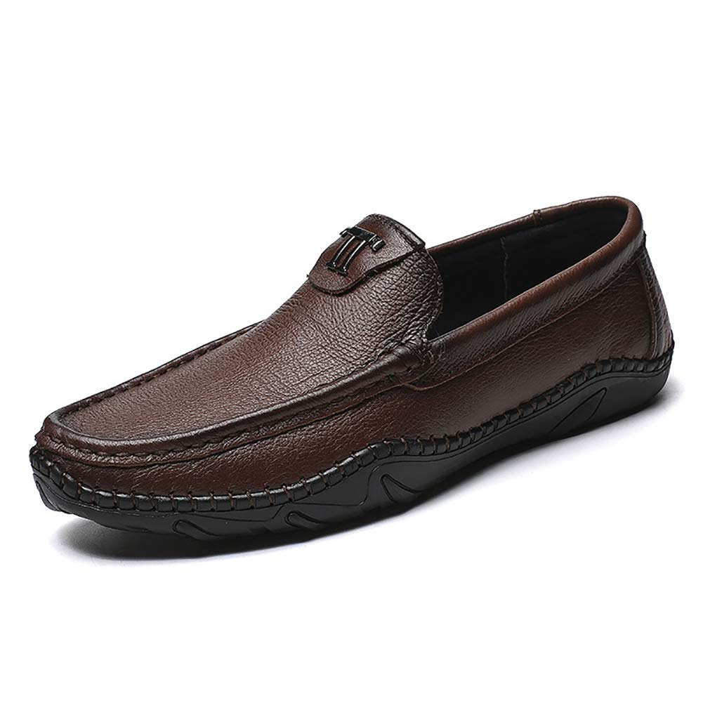 FHTD Stiefelschuh Der Männer Echtes Leder-Beiläufiger Beleg Auf Müßiggängern Breathable Treibender Schuh-Art- Und Weisepantoffel