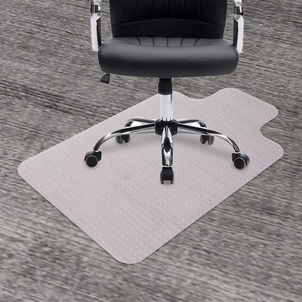 """GeeWin Chair Mat for Carpets, 30"""" x 48"""" with Lip Transparent Thick Sturdy Desk Chair Floor Protector Office Mats for Low, Standard and No Pile Carpeted Floors (30"""" x 48'' with Lip)"""