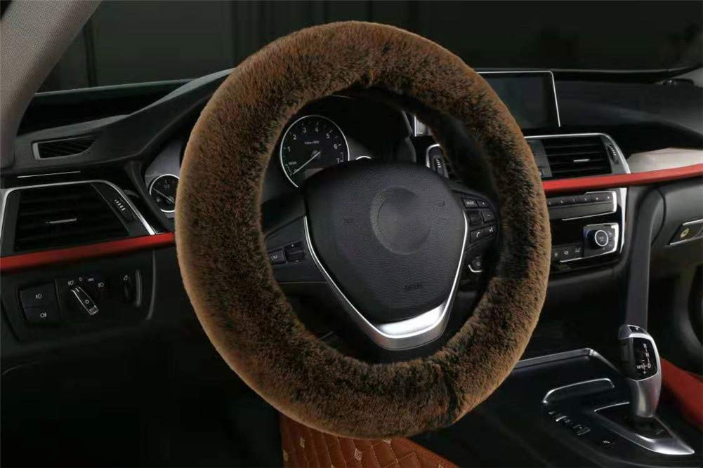 Bling Buy Soft Stretch on Faux Rabbit Fur Steering Wheel Cover for Men and Women,Universal Fit Any Car Steer Wheel,Purple