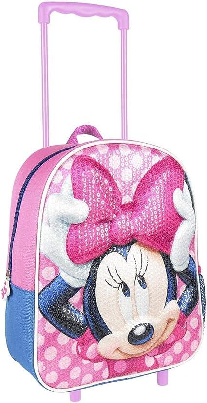 Bagages /à Main Cabine Valise Disney Minnie Mouse Sac /à Dos /à roulettes pour Filles Cadeau pour Filles! Sac /à Dos Scolaire Sac Voyage pour Enfants
