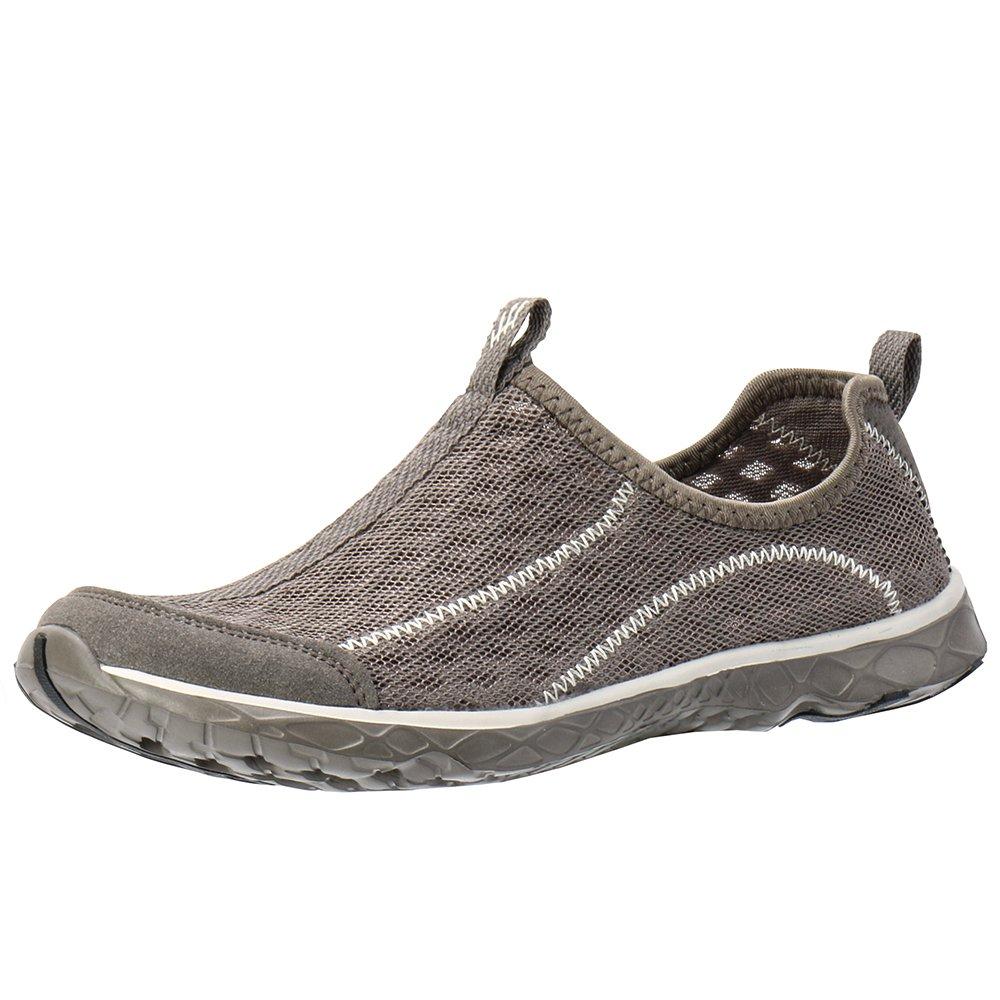 ALEADER Men's Mesh Slip On Water Shoes Overcast Gray 8 D(M) US